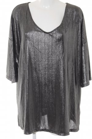 Junarose V-Ausschnitt-Shirt silberfarben Casual-Look