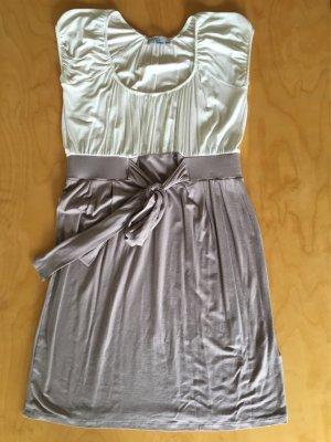 Jungstil zweifarbig Kleid Flieder lila weiß Gr. 38