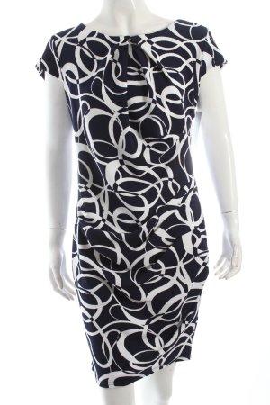 Jus d'Orange Kleid dunkelblau-weiß abstraktes Muster Party-Look
