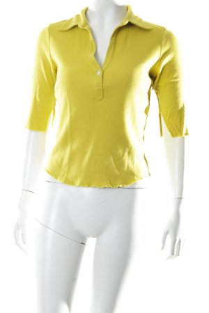 just B. Ribbed Shirt lime yellow