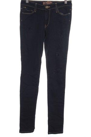 Just blue Skinny Jeans dunkelblau Destroy-Optik