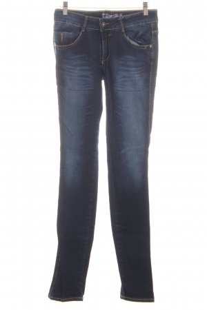 Just blue Skinny jeans donkerblauw-staalblauw casual uitstraling