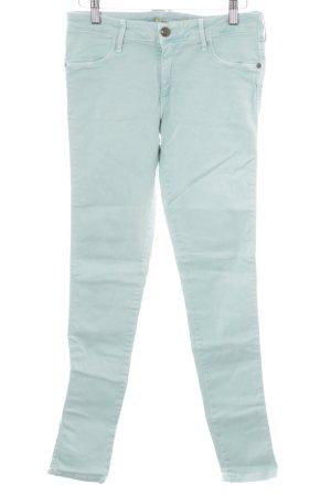 Just blue Skinny Jeans türkis extravaganter Stil
