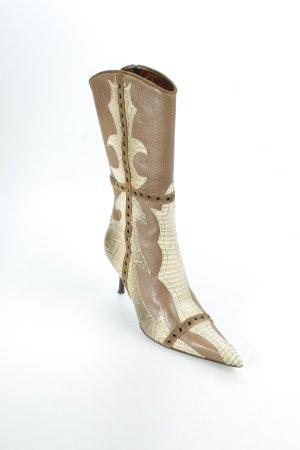 Just cavalli Absatz Stiefel camel-graugrün Mustermix Street-Fashion-Look