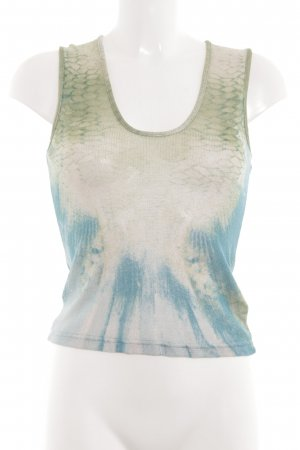 Just cavalli Basic Top abstraktes Muster Casual-Look