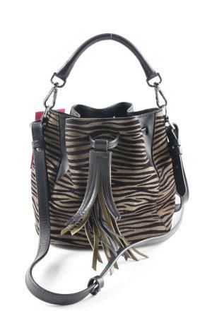 Just cavalli Beuteltasche schwarz-sandbraun Animalmuster Safari-Look
