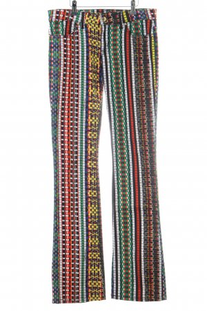 Just cavalli Boot Cut Jeans abstraktes Muster extravaganter Stil