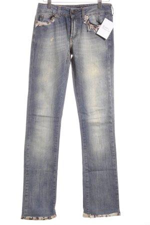 Just cavalli Boot Cut Jeans hellbeige-stahlblau meliert extravaganter Stil