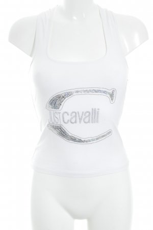 Just cavalli Cropped Top weiß Casual-Look
