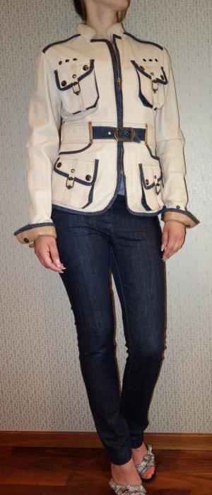Just Cavalli Designer Lederjacke Gr. S (34-36)