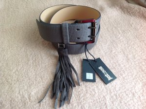 Just cavalli Leather Belt dark grey leather