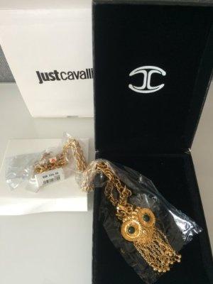 Just Cavalli Eule-Kette, vergoldet