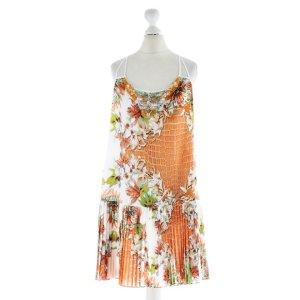 Just Cavalli Eyecatcher Dress Kleid m Träger Phyton + Blüten Print + Perlen