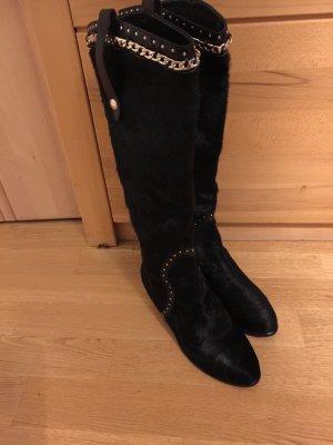 Just cavalli Fur Boots black