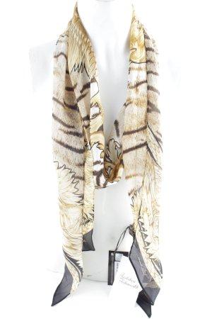 Just cavalli Neckerchief light brown-black animal pattern extravagant style