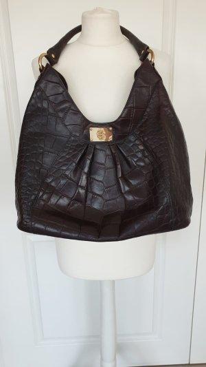 Just Cavalli Handtasche Tasche Designer Leder Braun