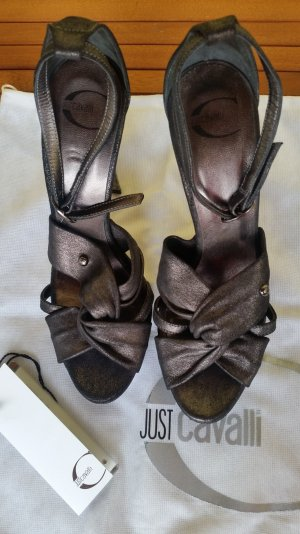 Just cavalli High Heel Sandal grey leather