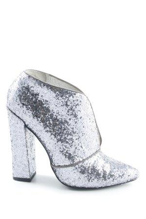 Just cavalli Chaussure à talons carrés argenté pailleté