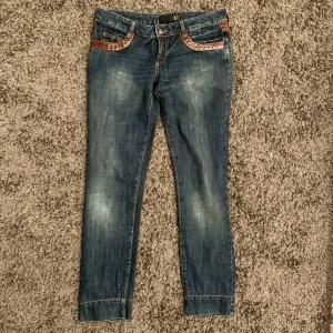 Just cavalli Jeans taille basse bleu foncé coton