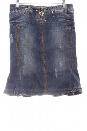 Just cavalli Jeansrock blau Casual-Look