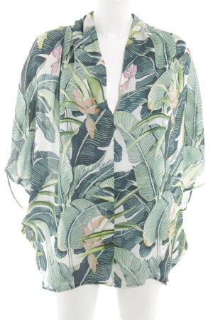 Just cavalli Blusa tipo kimono blanco-verde look casual