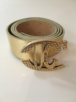 JUST Cavalli Leder Gürtel in Gold Größe 90