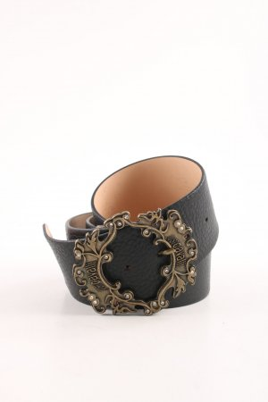 Just cavalli Leather Belt black-gold-colored elegant
