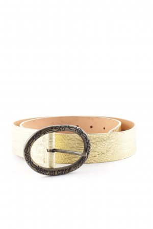 Just cavalli Leather Belt gold-colored art pattern
