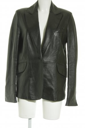 Just cavalli Lederjacke schwarzbraun Rockabilly-Look