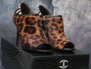 Just cavalli High Heels black-brown leather