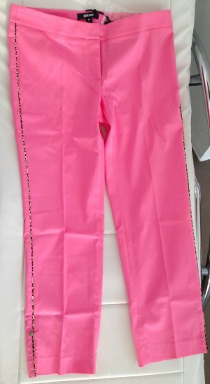 * JUST CAVALLI * NEU !  LUXUS CAPRI HOSE pink rosa LEO Streifen Gr 38 (44)