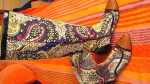 Just cavalli Botas slouch multicolor tejido mezclado