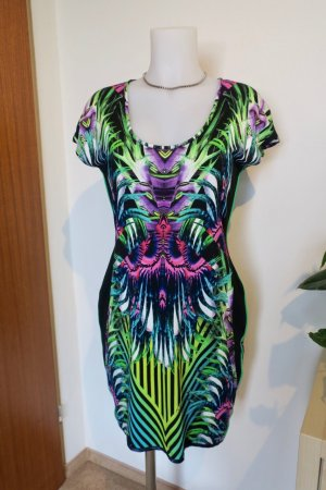 JUST CAVALLI Palm Print Kleid, Gr. L (38/40)