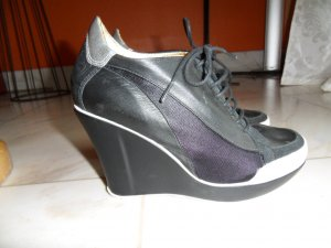 JUST CAVALLI Plateau-Ankle-Boots Keilabsatz Sneaker schwarz