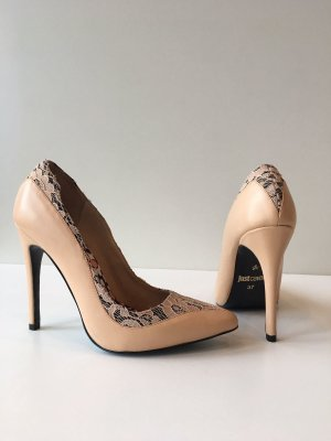 Just Cavalli Pumps Stilettos in Größe 36 Nude