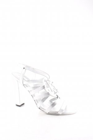 Just cavalli Riemchenpumps silberfarben Metallic-Optik