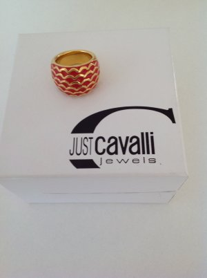Just cavalli Bague en or rouge brique-doré