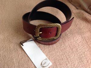 Just cavalli Faux Leather Belt carmine imitation leather