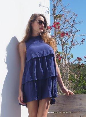 just Cavalli ruffle Tunika Kleid Bluse Seidenkleid