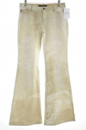 Just cavalli Flares pale yellow-cream extravagant style