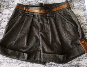 8e1b1918a684 Just Cavalli Shorts Wolle & Leder Gr. XS/S (34/36)