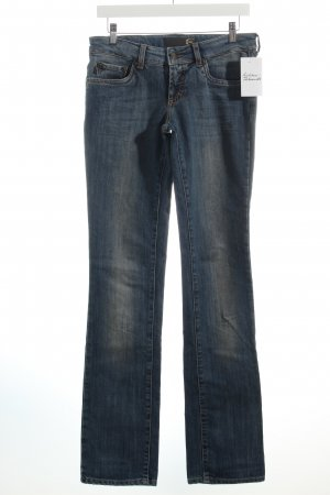 Just cavalli Slim Jeans blau Washed-Optik