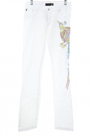Just cavalli Slim Jeans weiß Casual-Look