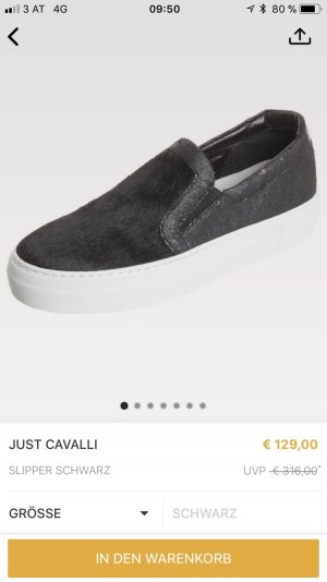 Just cavalli Sneaker slip-on nero-bianco