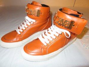 Just cavalli High Top Sneaker neon orange-dark orange leather