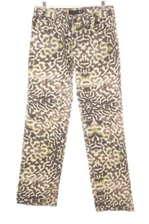 Just cavalli Straight-Leg Jeans Allover-Druck extravaganter Stil