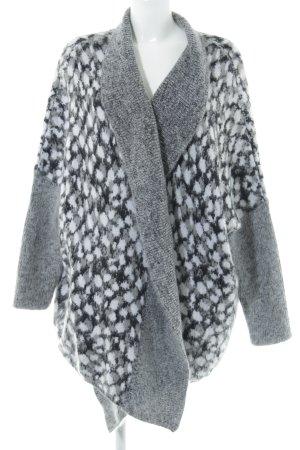 Just cavalli Strick Cardigan grau-dunkelgrau abstraktes Muster Casual-Look