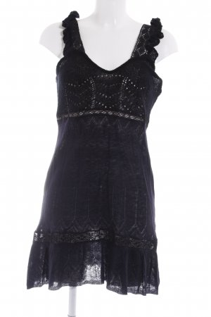 Just cavalli Strickkleid schwarz Lochstrickmuster Romantik-Look