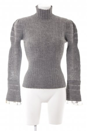 Just cavalli Knitted Sweater grey weave pattern casual look