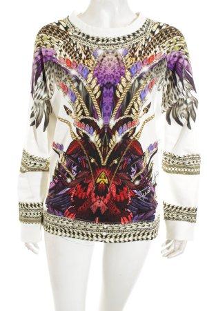 Just cavalli Sweatshirt abstraktes Muster extravaganter Stil